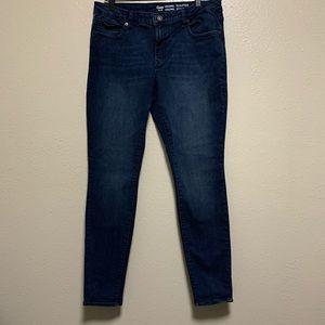 GAP sculpted legging dark wash denim skinny jeans